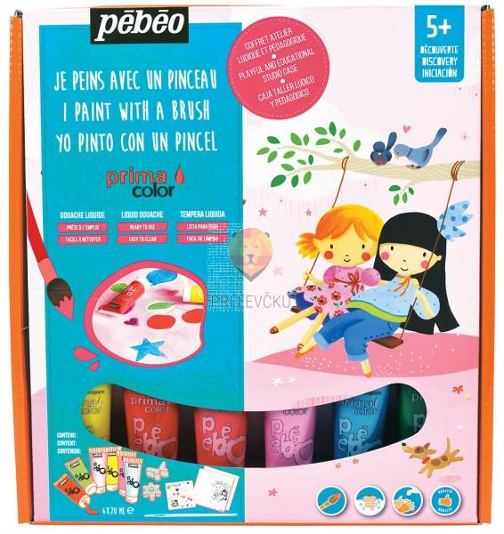 Set barv Primacolor Deklice 6x20ml in pripomočki
