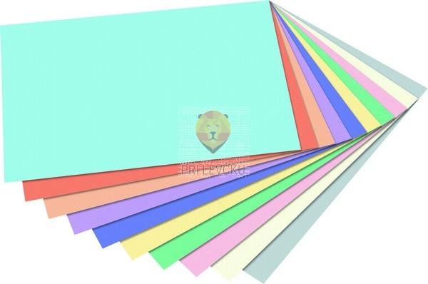 Barvni papir tonpapir Pastel A4 10 barv 100 listov