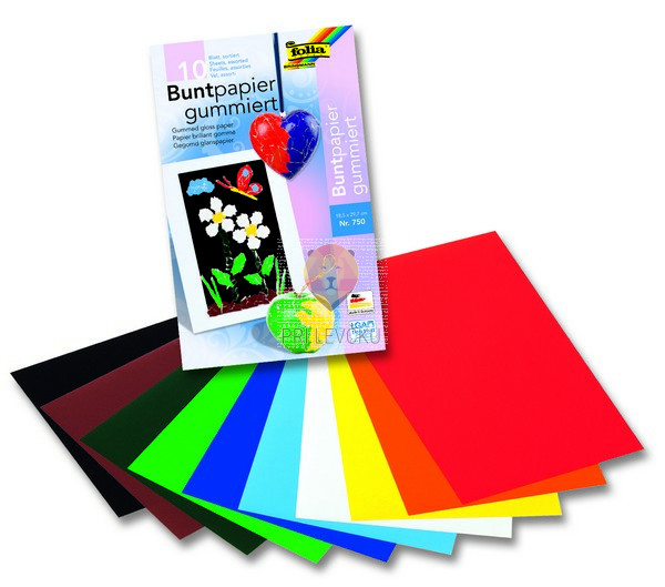 Gumiran barvni papir barvni miks 18,5x29,7cm 10 kosov