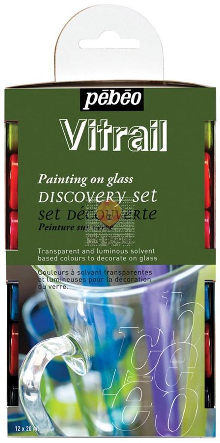 Set VITRAIL barv za steklo, 12 x 20 ml