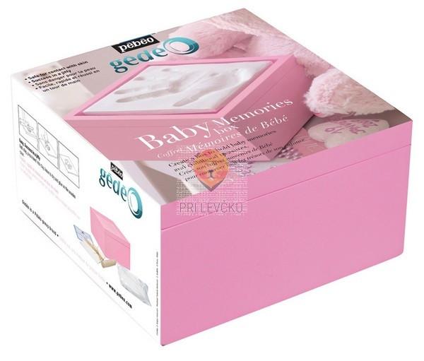 Spomini na otroštvo - Baby Memories Box-Roza