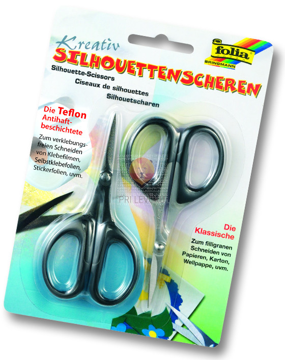 Škarjice za izrezovanje silhuet 2 kos