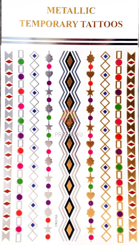 Začasni barvni tatu v obliki nakita 20x15cm