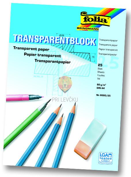 Blok Transparentni papir A4 25 listov