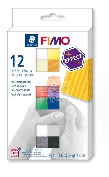 Komplet polimerne mase Fimo Effect 12x25g