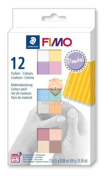 Komplet polimerne mase Fimo Soft Pastel 12x25g