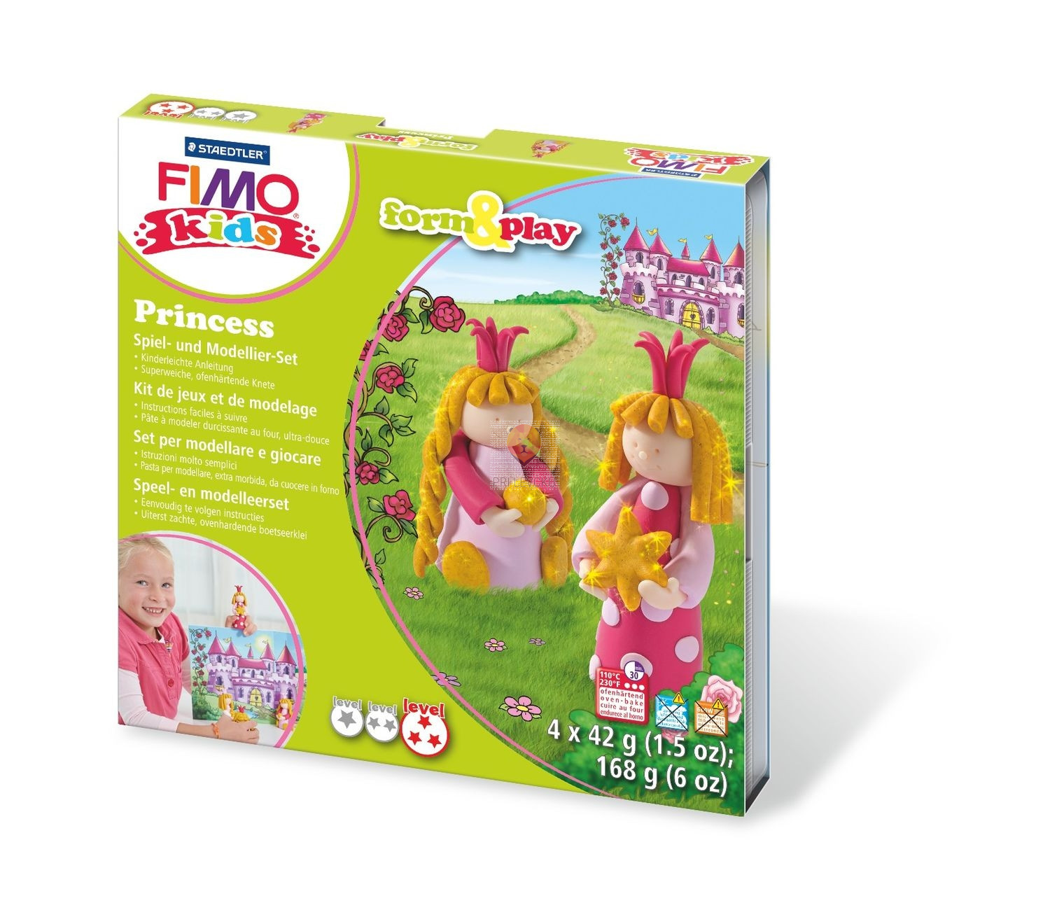 Set polimerne mase Fimo Kids Princess