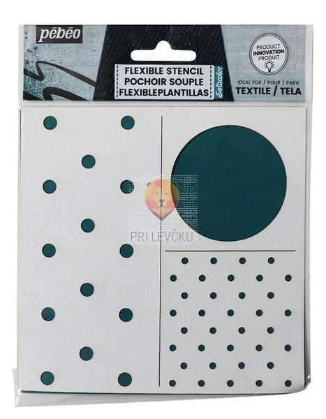 Fleksibilna šablona za tekstil Pike 15x15cm