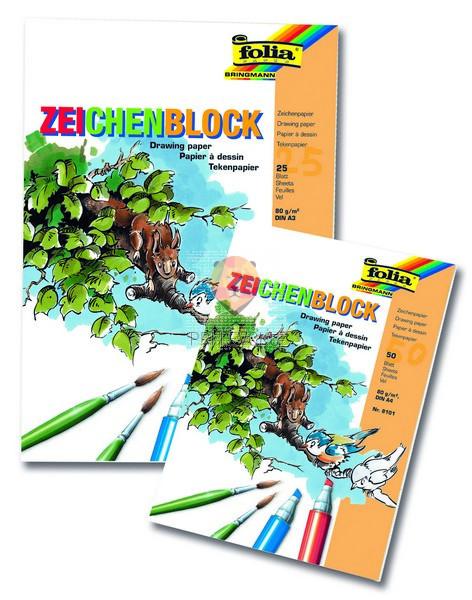Blok za risanje A4, 50-listni, 80 g/m2