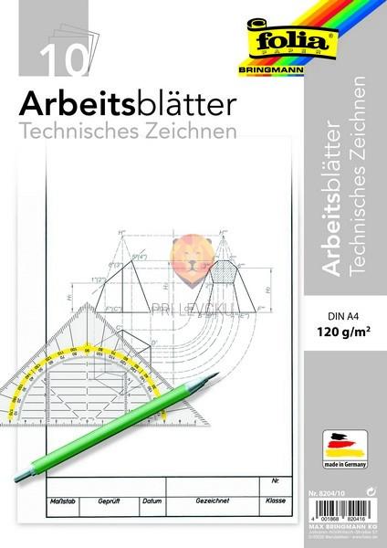Delovni listi za tehnično risanje 80g/m2 A3 25 listov