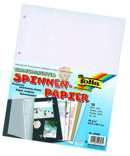 Prosojni zaščitni papir za albume 42 g/m2 23,2x29,7cm 10 listov