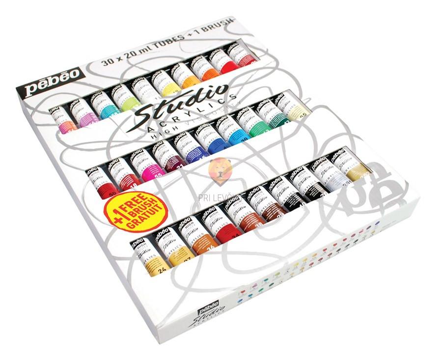 Akrilne barve STUDIO ACRYLICS set 30x20ml