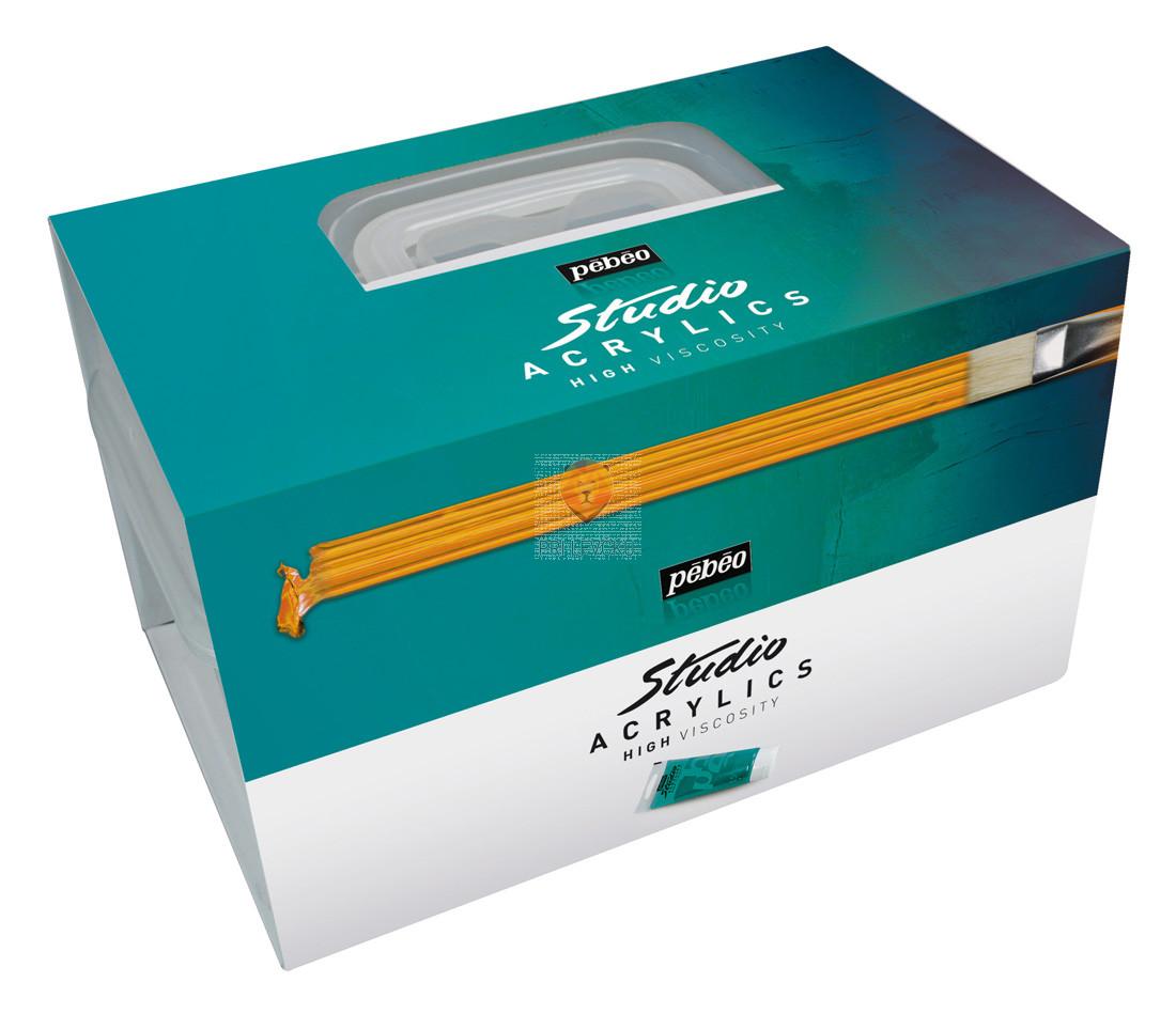Set STUDIO ACRYLICS kovček 8 x 100 ml