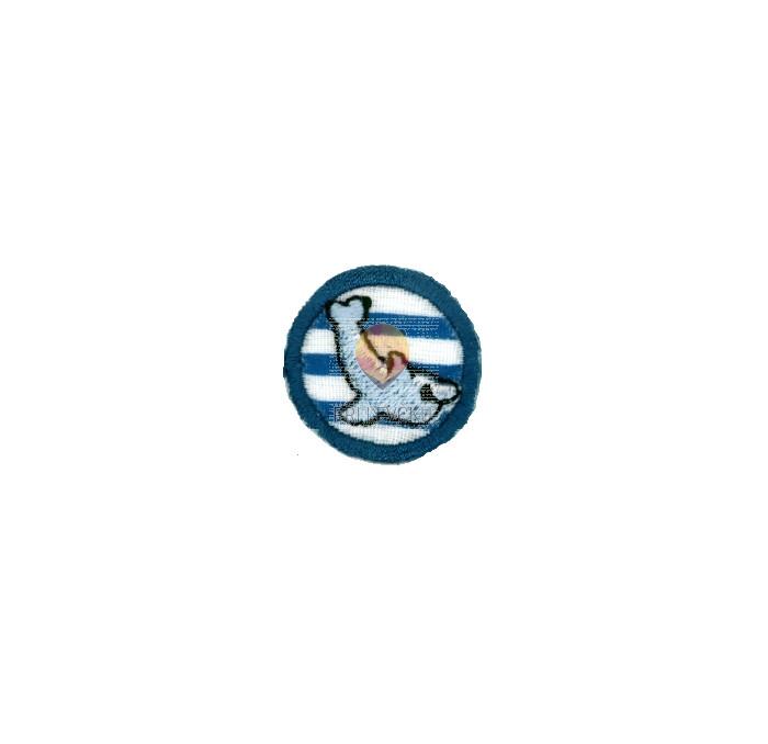 Našitek samolepilni - Delfinček v obroču 2,5 cm x 2,5 cm