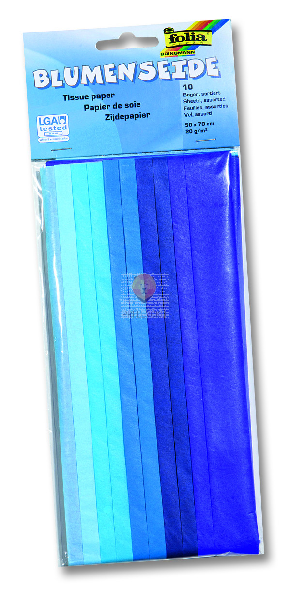 Svileni papir mix moder 20 g/m2 10 pol 50x70cm