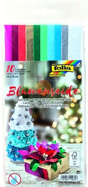 Svileni papir Božič miks barv 20g/m2 10 pol 50x70cm