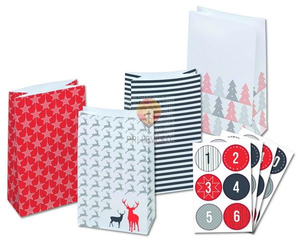 Adventni koledar - papirnate vrečke, 29-delni
