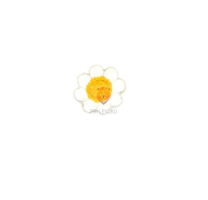 Našitek samolepilni - Marjetica mala 2 cm x 2 cm