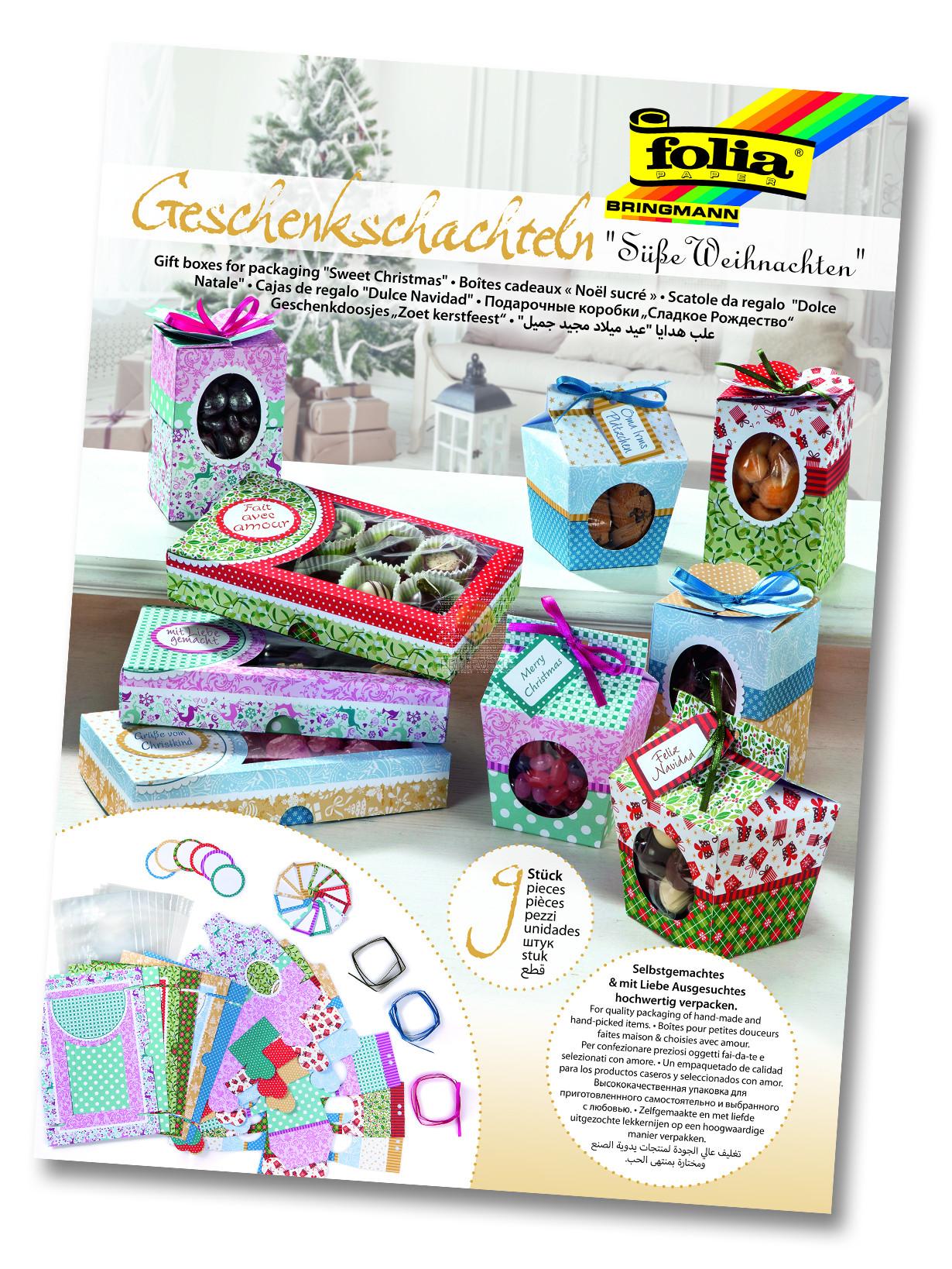 Set za izdelavo darilnih škatlic SLADKI BOŽIČ 9 kosov