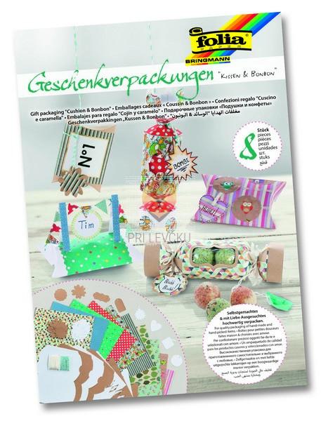 Set za izdelavo darilnih škatlic Blazinice & Bonboni 42 kosov