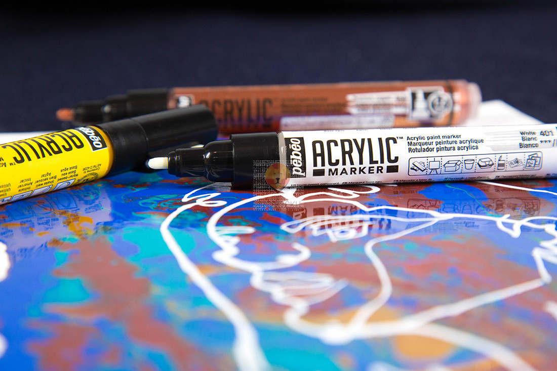 Akrilni flomaster debeline 1,2mm 1 kos