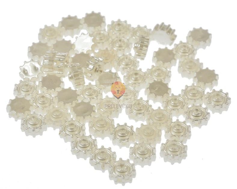 Akrilne osnove perle bele barve rožice 12 g