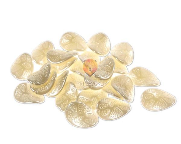 Perle akrilne bele - listki s pikami, 20 g