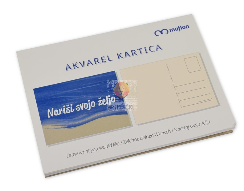 Akvarelne kartice 280g/m2 10x14cm 10 kosov