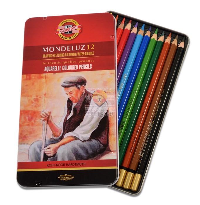 Akvarelne barvice Mondeluz 12/1 koh-I-Noor