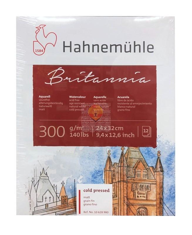 Akvarelni blok Britannia 24x32cm 12 listov gladek matt cold pressed