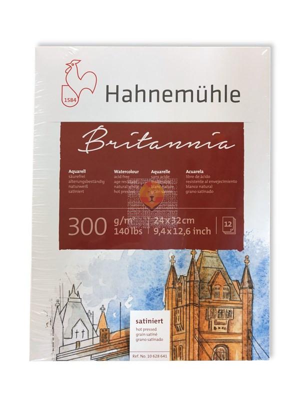 Akvarelni blok Britannia 24x32cm 12 listov ekstra gladek hot pressed