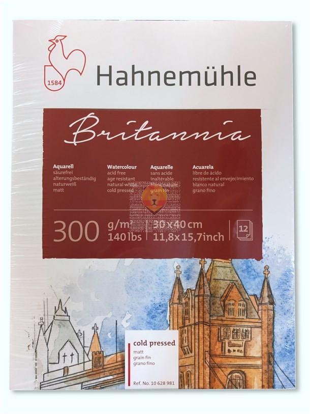 Akvarelni blok Britannia 30x40cm 12 listov gladek matt cold pressed