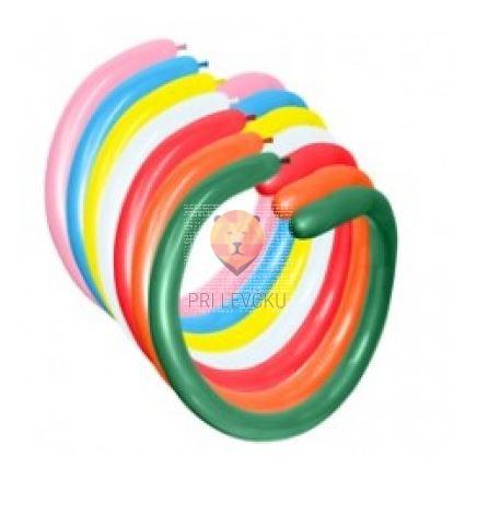 Baloni podolgovati za oblikovanje 100 kosov barvni miks