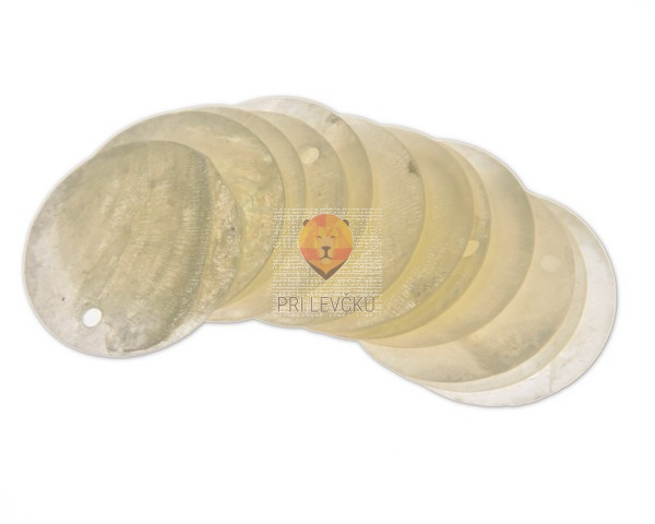 Perle biserne ploščice 25mm 12kosov