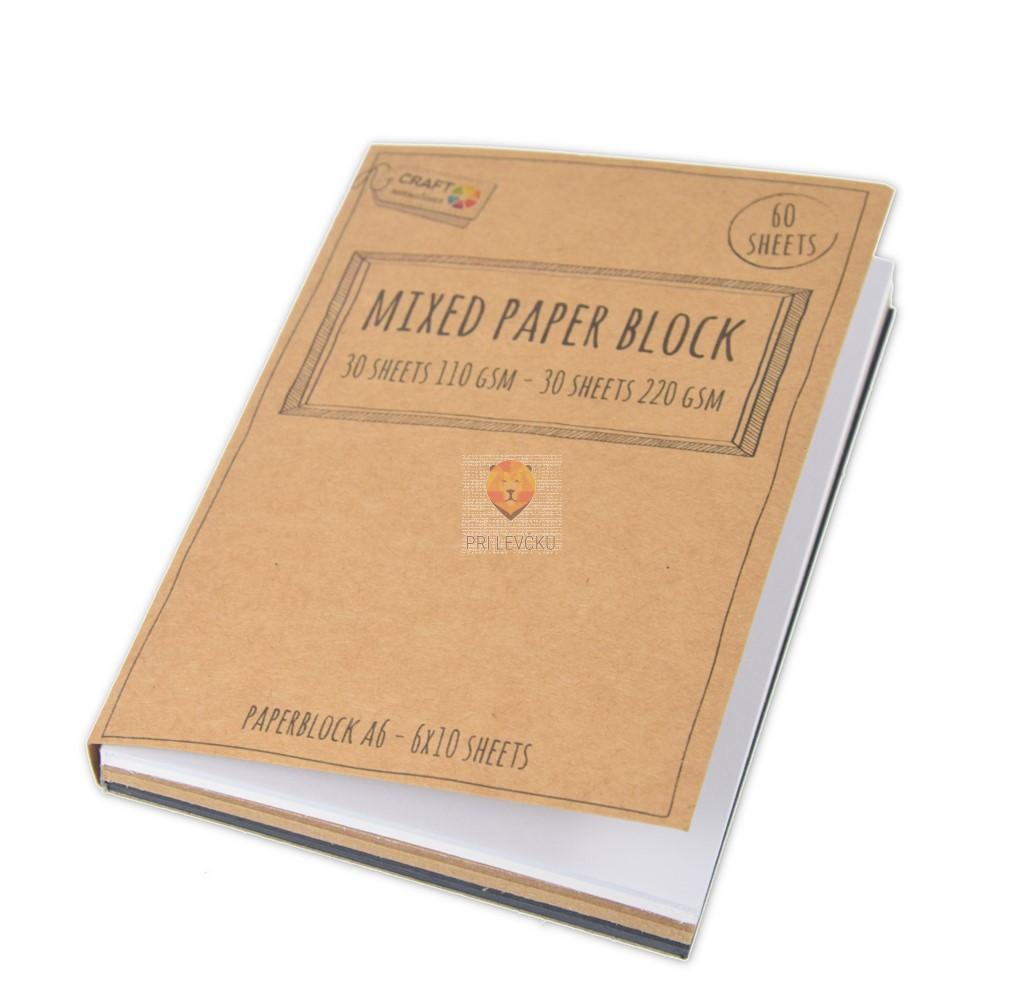Blok papirjev A6 6x10 listov