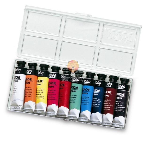 Set šolskih tempera barv v tubi, 10 x 10 ml