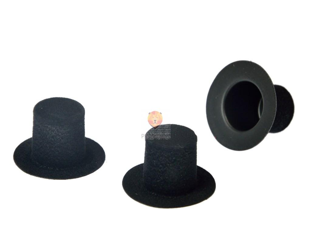 Klobučki za dekoracijo - cilindri, velikosti 3 cm, 3 kos