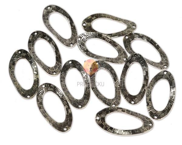 Kovinski členi ovalni, 12 kos