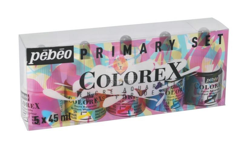 COLOREX  set akvarelnih transparentnih tušev 5x45ml