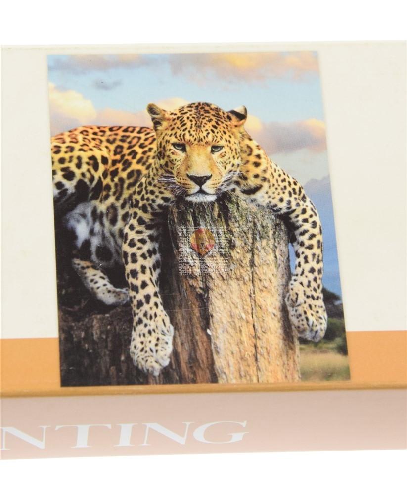 Slikanje s kristalčki Leopard 40x50cm