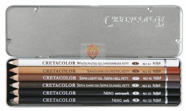 Komplet mastnih svinčnikov Oil v kovinski embalaži
