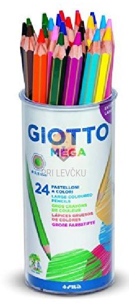 Debele barvice Mega v lončku 24/1 Giotto
