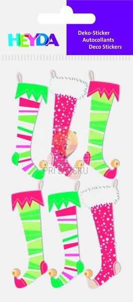 Nalepke za dekoracijo Božične nogavice