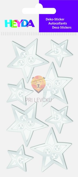 """Nalepke za dekoracijo """"Srebrne zvezdice s kamenčki"""""""