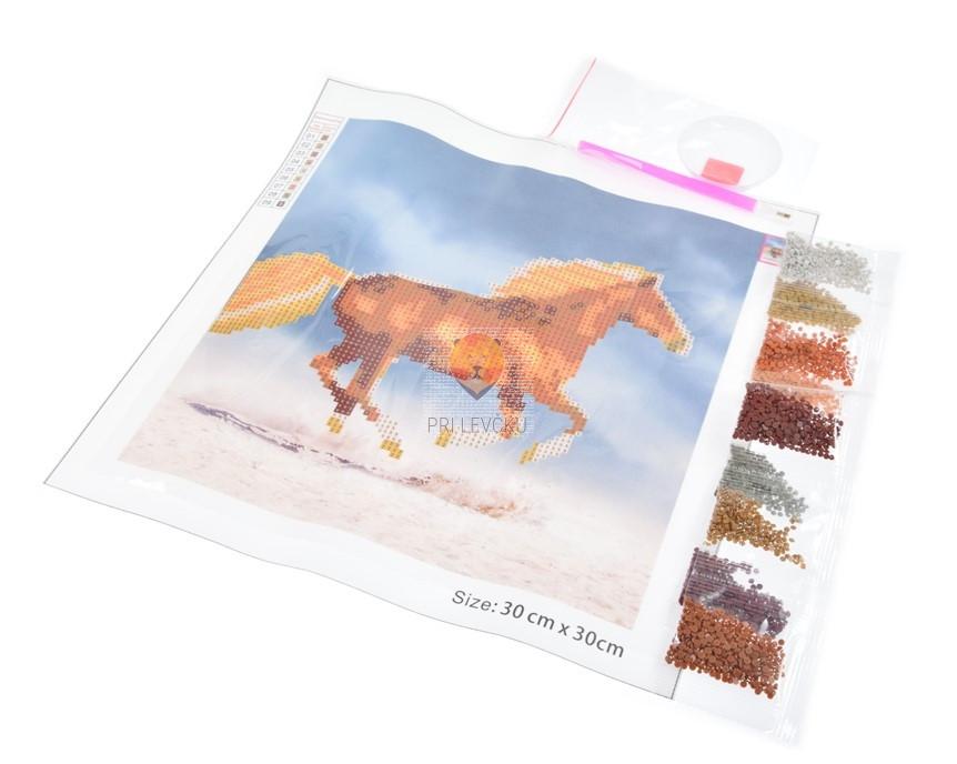 Slikanje s kristalčki Konj 30x30cm