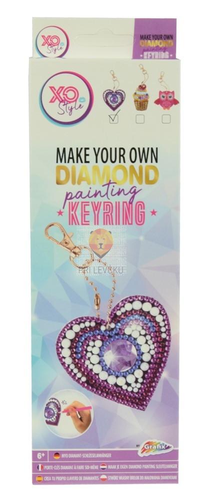 Obesek za ključe s kristalčki Srce