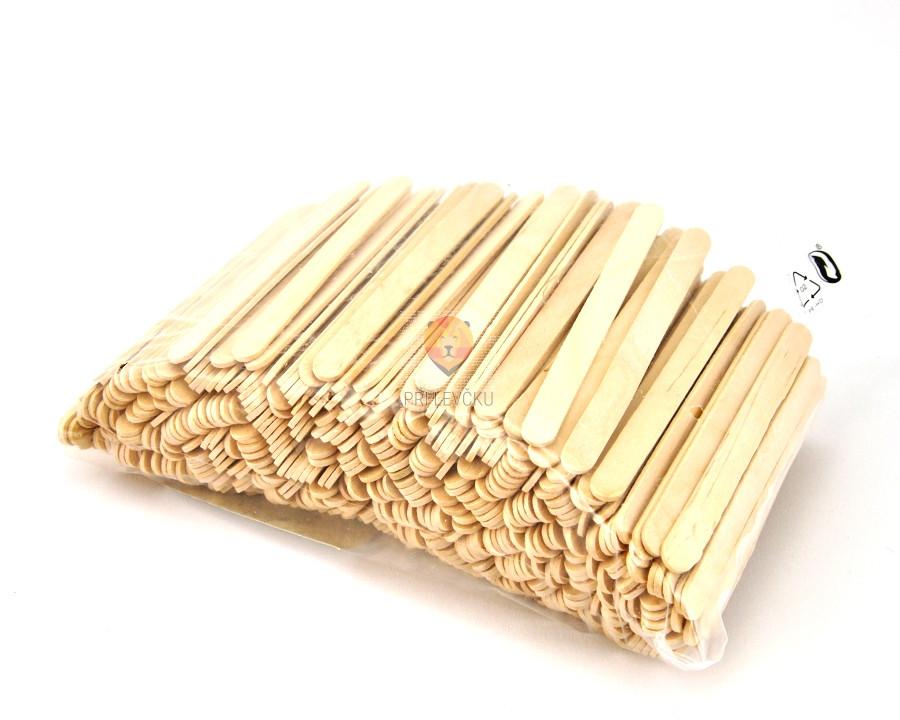 Lesene palčke naravne, 500 kos