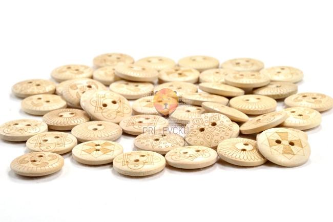 Gumbi leseni naravni z vzorcem 30g