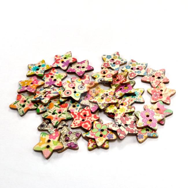 Gumbi leseni zvezdice potiskane 15g