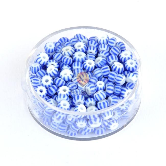 Perle dvobarvne temno modre 4,5mm 17g